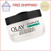 Olay Complete Daily Moisture Cream, Sensitive Skin, SPF 15, 2 oz, White