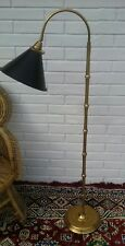 Mid Century Modern Brass Faux Bamboo Floor Lamp Hollywood Regency decor