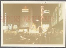 Unusual Vintage Photo Las Vegas Street Scene Casino Neon Signs at Night 761708