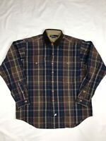 Vintage Polo Ralph Lauren Corduroy Collar Thick Flannel Long Sleve Shirt XL