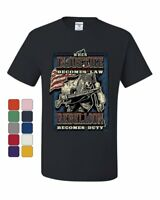 Injustice Becomes Law Rebellion Becomes Duty T-Shirt Militia 2A Tee Shirt