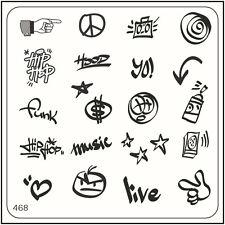 MoYou Nail Fashion Stamping Nail Art Image Plate 468 Urban Style Hippie
