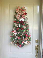 Christmas, Winter, Deco Mesh, Gift, Tree, Door, Decor, Welcome, Wreath