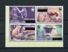 SIERRA LEONE Nr.5071-5074ZDR ** WWF HUSARENAFFE ME 80,-++ !!! (122430)