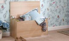 Oak Ottoman Toy Box Chest Wooden Blanket or Bedding Trunk Storage Panama
