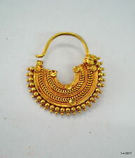 traditional design 20k gold nose ring nath nose ornament rajasthan india
