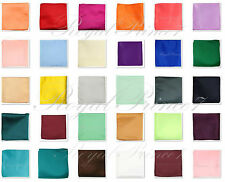 "Colors Solid Pocket Square Hankie Handkerchief Wedding Formal Prom 10"" x 10"""
