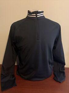 G4 G/Fore White lined Neck Men's Medium Onyx 1/4 Zip Pullover NEW Golf