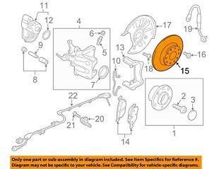 AUDI OEM 15-17 A3 Rear Brake-Rotor 5Q0615601D
