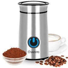 Savisto Electric Coffee Grinder, Best Burr Grinding Machine for Bean/Nuts/Spices