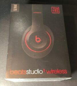 Beats by Dr Dre Studio 3 Wireless Over-Ear Headphone [ Defiant Black Red ] NEW