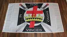 Knights of Templar Flag Malta In Hoc Signo Vinces Crusader Christian Masonic