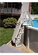 VinylWorks AF-T Above Ground Swimming Pool Step & Ladder Entry System - Taupe
