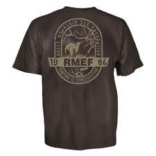 Rocky Mountain Elk Foundation Bugle Call T-Shirt (L)- Dark Chocolate