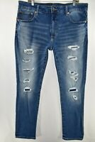 American Eagle Slim Next Level Flex Jeans Mens Size 38x32 Blue Meas. 38x32