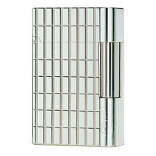 S.T. Dupont Silver Plate, Cut Lines Gatsby Lighter, 18138 (018138), New In Box