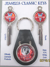 Red Pontiac GRAND PRIX Deluxe Classic White Gold Key Set 1968 1972 1976 1980