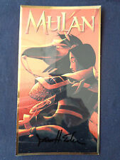 Mulan Prototype Chrome Insert for VHS 1 of a kind Proof Signed W COA
