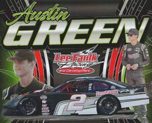 2019 Austin Green Lee Falk Racing Chevy SS PRI Show Promo NASCAR Whelen postcard
