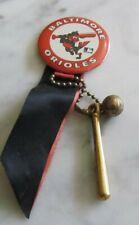 1969 Baltimore Orioles Baseball Pin Pinback Button Bat Ball Team Color Ribbons
