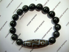 FENG SHUI - 9 EYE DZI WITH 10MM BLACK TOURMALINE