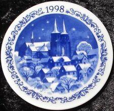1998 Royal Copenhagen Fayence MINI PIATTO DI NATALE/CHRISTMAS PLAQUETTE