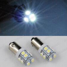 2 x White LED Bulbs 10-SMD BA9S Bayonet BA9 BA9s 64132 H6W
