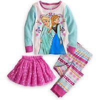 ELSA + ANNA~DeLuXe~Cotton~PJ~PaJamA+SkirT~Set~Sleep Wear~Frozen~NWT~Disney Store