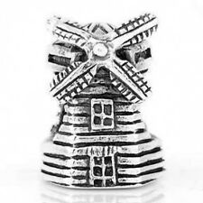 STERLING SILVER DUTCH WINDMILL OF NETHERLANDS TRAVEL BEAD