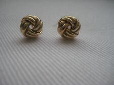 Gold Knoten Ohrringe 9 KARAT GELB