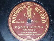 LITTLE BELLS 78 rpm RECORD Polyphon SOLO DE CAMPANILLAS Polka Anita / Oceana