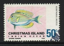 CHRISTMAS ISLAND SG30 1968 50C FISHES FINE USED