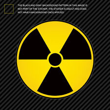 Nuke Radioactive Die Cut Decal Self Adhesive Vinyl nuclear radiation warning