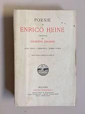 Poesie di Enrico Heine tradotte da Giuseppe Chiarini Ed. Zanichelli 1908