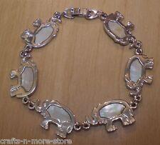 Genuine Mother of Pearl Shell Elephant Bracelet