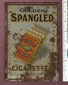 Cigarette packet shop display stand metal show card for Ogden circa 1930's  #117