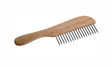 UK Mutneys Professional Pet Grooming Large Wooden Handled Comb Coarse Pin