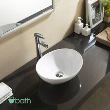Bathroom Oval Vessel Sink Vanity Basin White Porcelain Ceramic Bowl