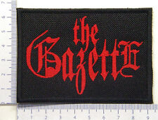 Gazette The 02 embroidered patch, thermal glue on the back