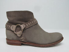 Alberto Fermani Sofia Bootie Gray Leather Harness Ankle Boots Size WOMEN'S 35.5