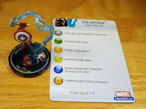The Captain #062 chase Captain America Heroclix set with card