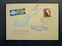 Germany DDR 1958 Leipzig / Erfurt Flight Cover - Z4720