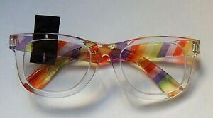 BETSEY JOHNSON SET READING GLASSES READERS & CASE RAINBOW +1.50,+2.00,+2.50 NEW