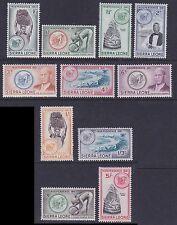 Sierra Leone 1961 Mint MLH Part Set Independence 11 values Diamonds Beach Lion