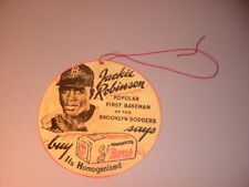 Repro Brooklyn Dodgers Jackie Robinson Bond Bread Hanging Store Advertisement