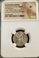 Byzantine Empire Andronicus II & Michael IX NGC XF Ancient Silver Coin