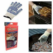 Oven Heavy Duty Glove Double Silicone Gloves Heat Cotton Mitt Non Slip Resistant
