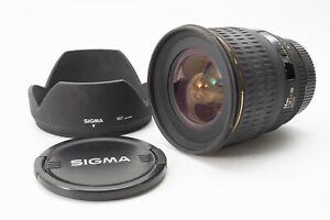 Sigma EX 24mm f/1.8 Aspherical EX DG Lens For Nikon - With Hood & F/R Lens Caps