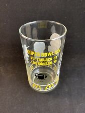 Vintage 1979 Pittsburgh Steelers Super Bowl XIV McDonald's Glass Cup Joe Greene
