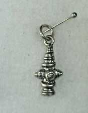 STERLING SILVER FIREFIGHTERS FIREMEN FIRE DEPT HYDRANT CHARM